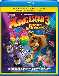 Madagascar 3: Europe's Most Wanted (Deluxe Edition 3D Combo Pack) [Blu-ray]