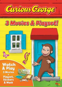 Curious George: 3 Movies & Playset [DVD]