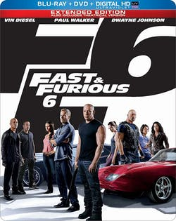 Fast & Furious 6 (2013) (Limited Edition Steelbook) [Blu-ray]