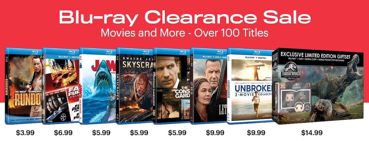1300x500 Warehouse Clearance - Blu-ray Movies