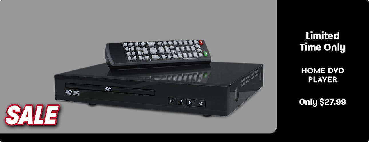 Home DVD Player with Wireless Remote