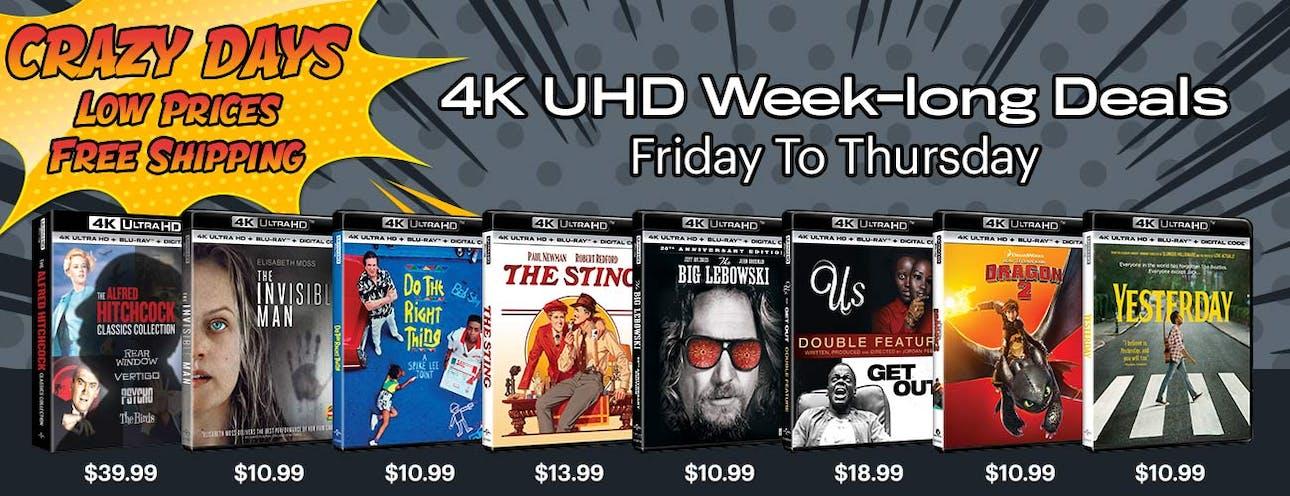 1300x500 Crazy Days - 4K UHD week-long Deals WK1