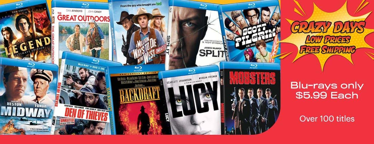1300x500 Crazy Days - Blu-rays at $5.99