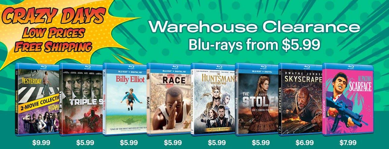 1300x500  Crazy Days - Blu-ray Warehouse Clearance