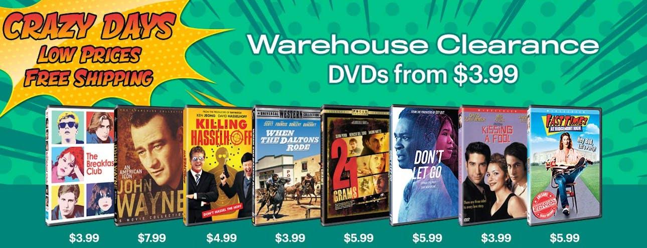 1300x500 Crazy Days - DVD Warehouse Clearance