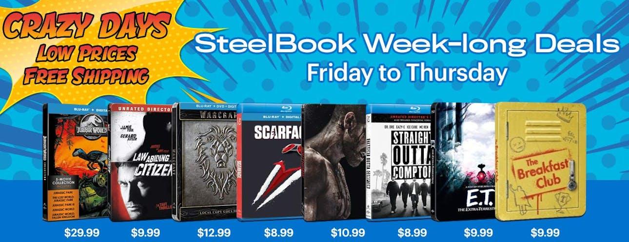 1300x500 Crazy Days - Steelbook Weekly Deals Wk1