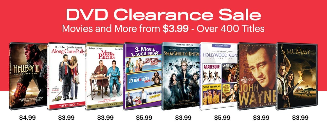 1300x500 DVD Clearance Sale - Movies From $3.99