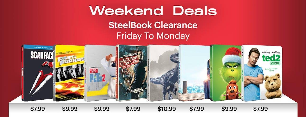 1300x500 Weekend Deals Steelbook Clearance