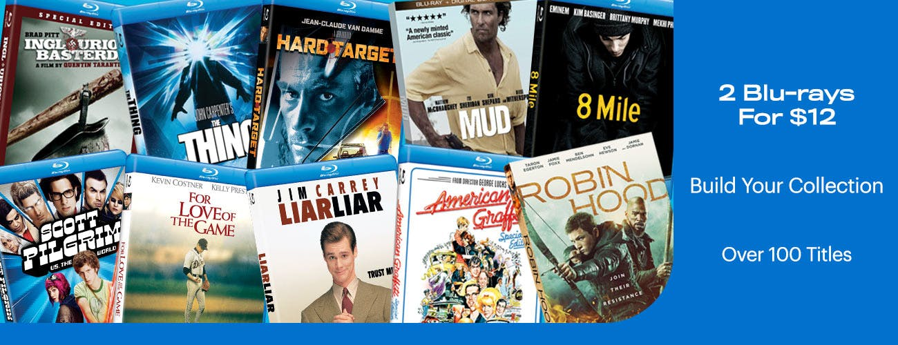 2 Blu-rays For $12