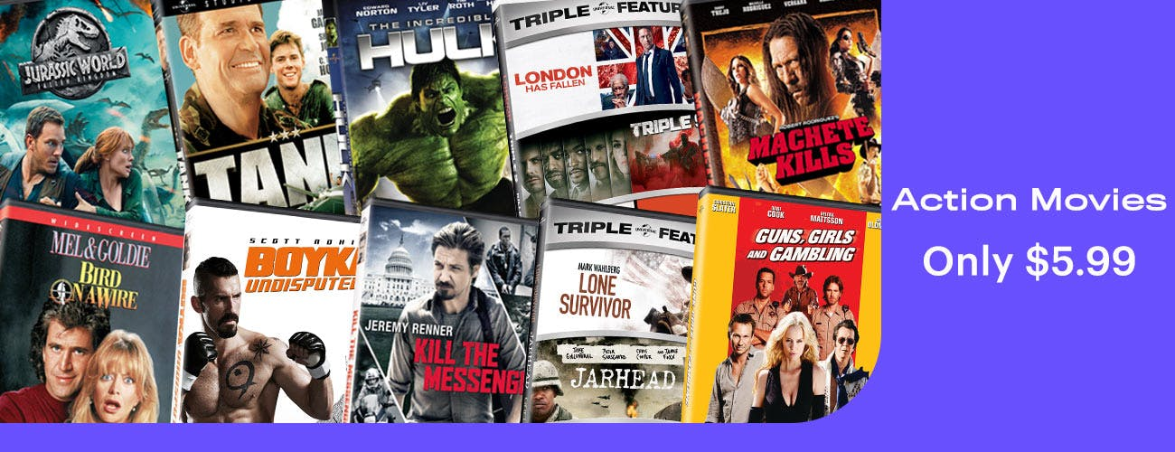 Action Movies All at $5.99