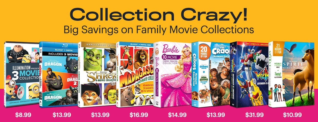 Collection Crazy - Big Savings on Family Movie Collections