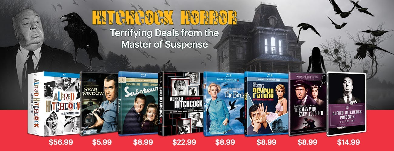 Hitchcock Horror - Terrifying Deals from the Master of Suspense
