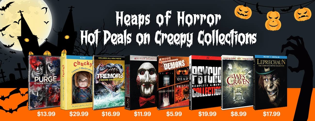 Heaps of Horror - Hot Deals on Creepy Collections