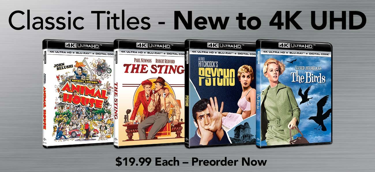 Classic Titles - New To 4K UHD