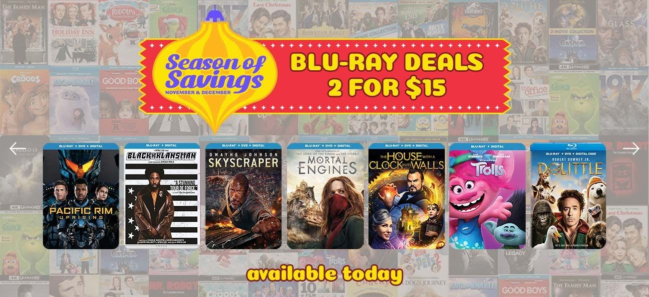 Season of Savings Blu-ray Deals