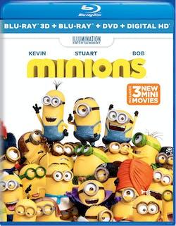 Minions 3D (DVD + Digital) [Blu-ray]